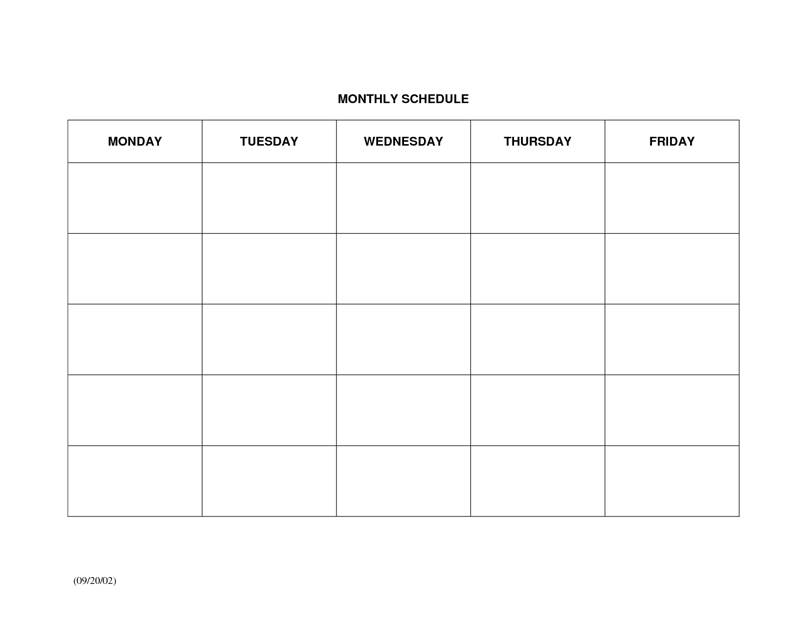 Calendar Monthly Schedule Template : Best images of free printable monthly schedule templates