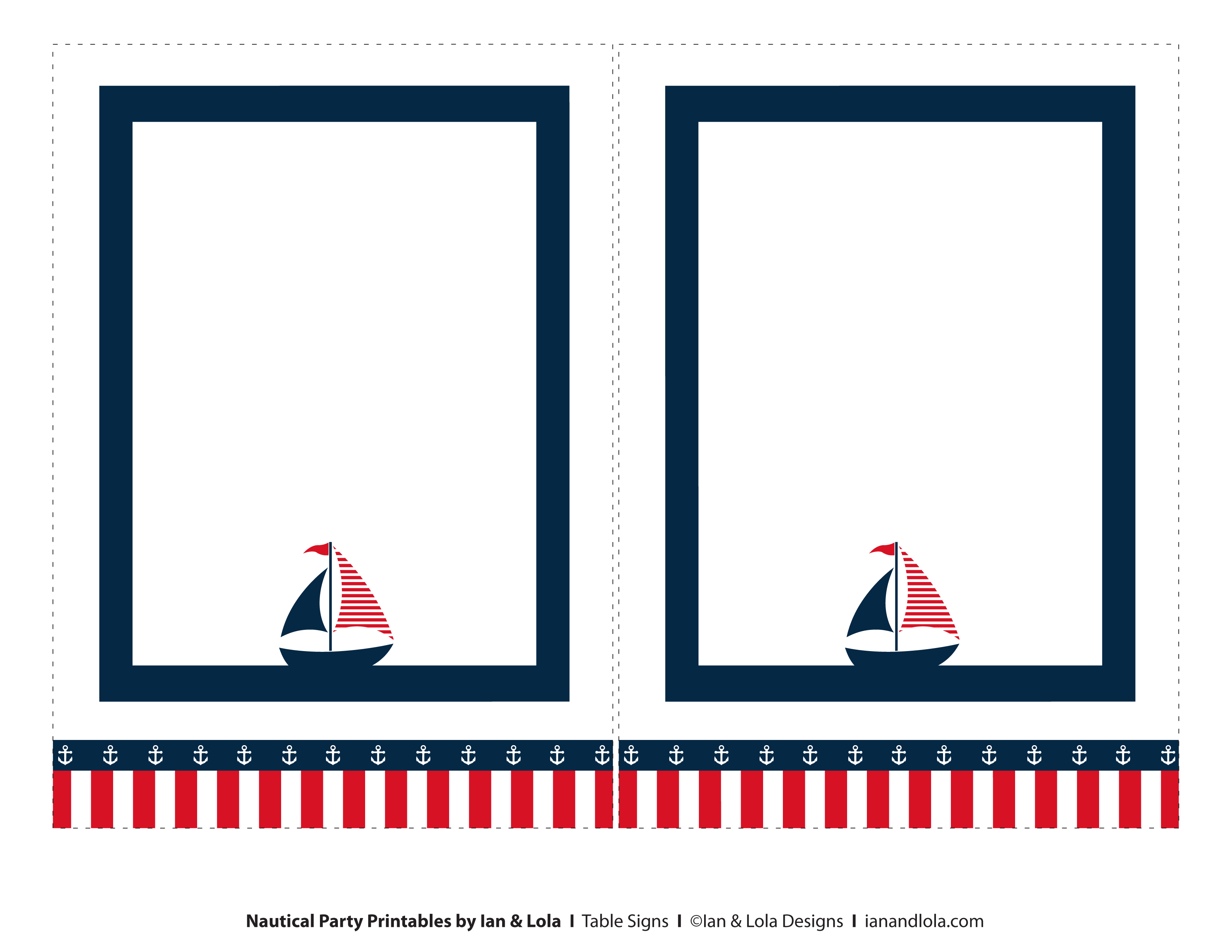5 Images of Free Printable Nautical Cards