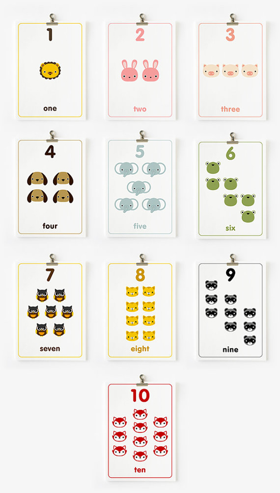 4 Images of Printable Number Flash Cards 1 10