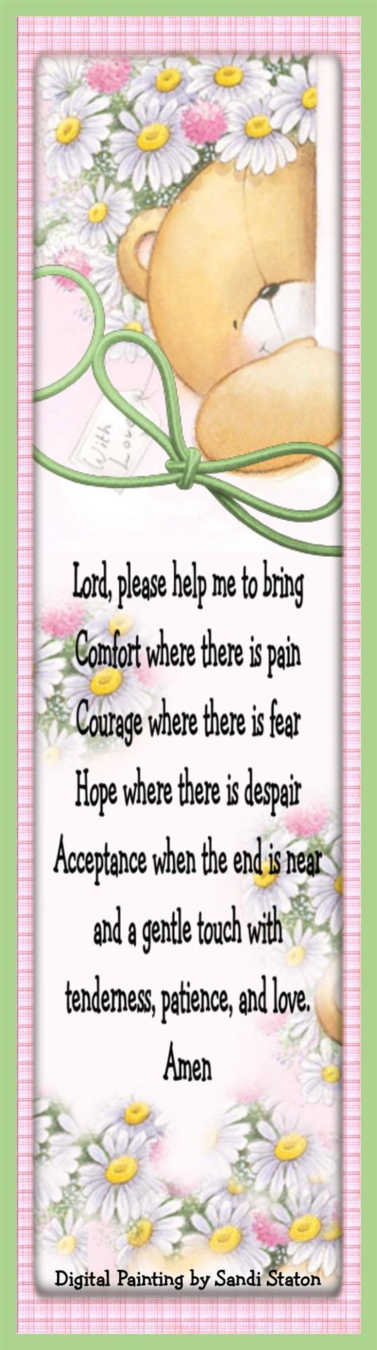 Nurse's Prayer Bookmark