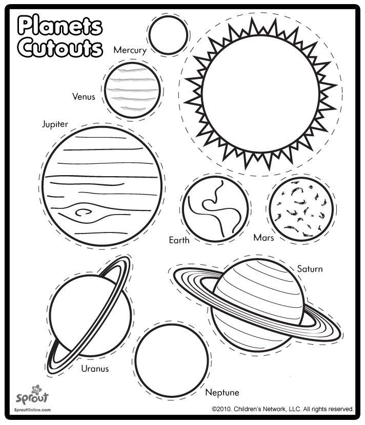 4 Images of Planet Preschool Printables