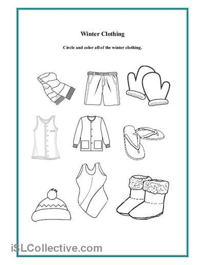 6 Images of Preschool Winter Clothes Printables