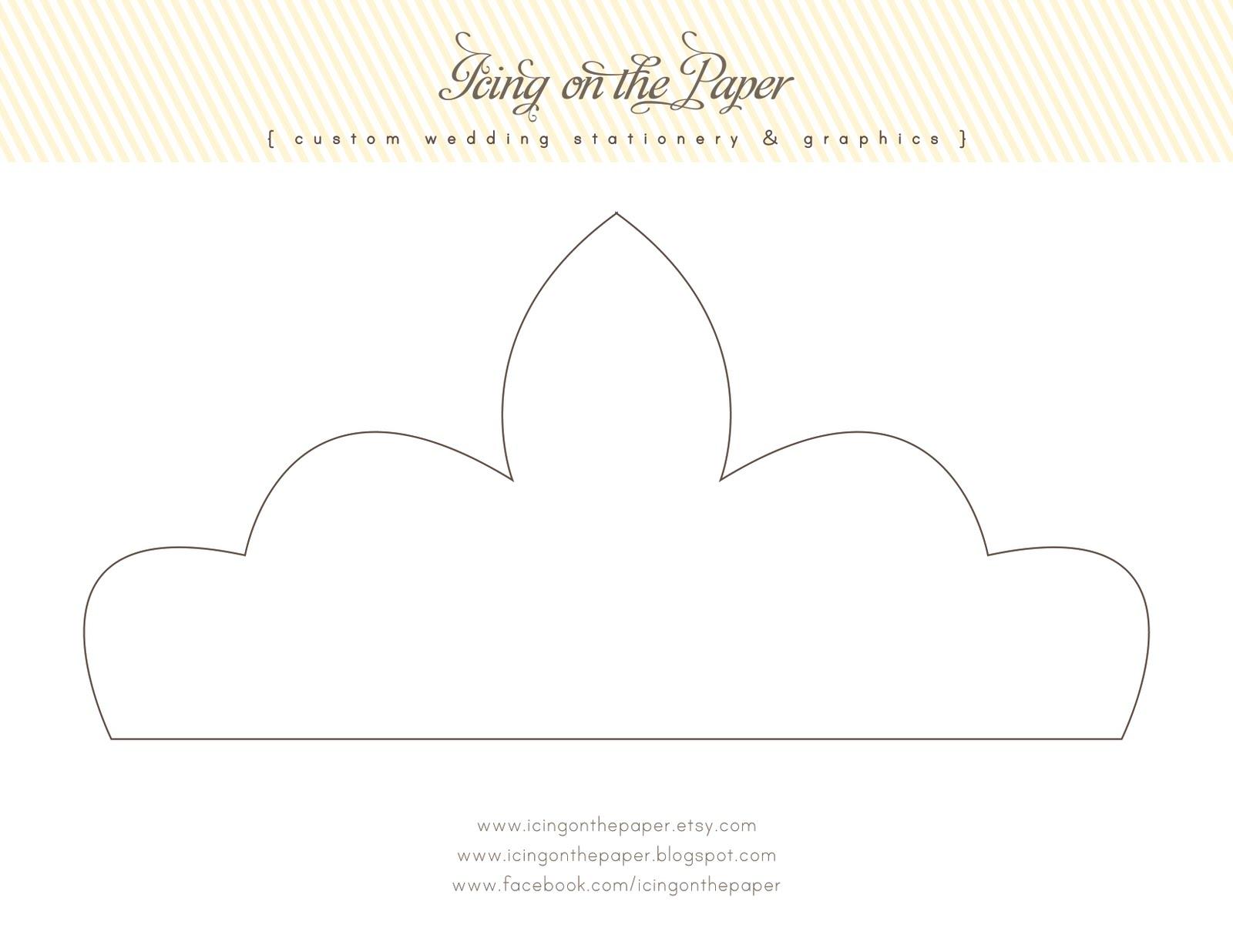 6 Images of Printable Princess Crown Patterns