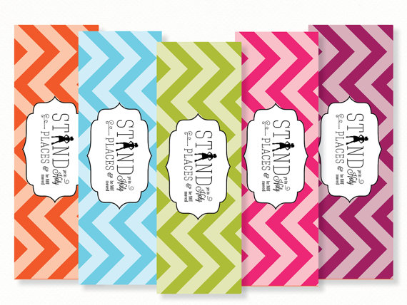 5 Images of Cute Printable Chevron Bookmarks