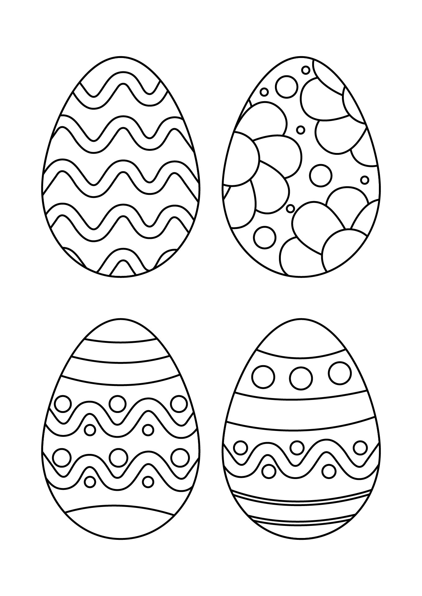 Printable Easter Egg Pattern Template