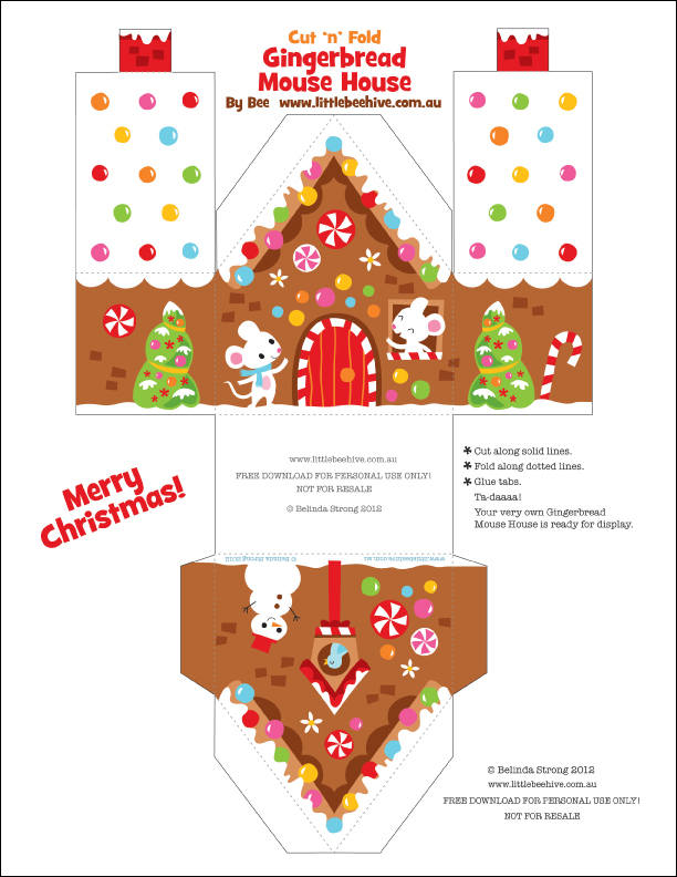 8 Images of Gingerbread House Printable Craft