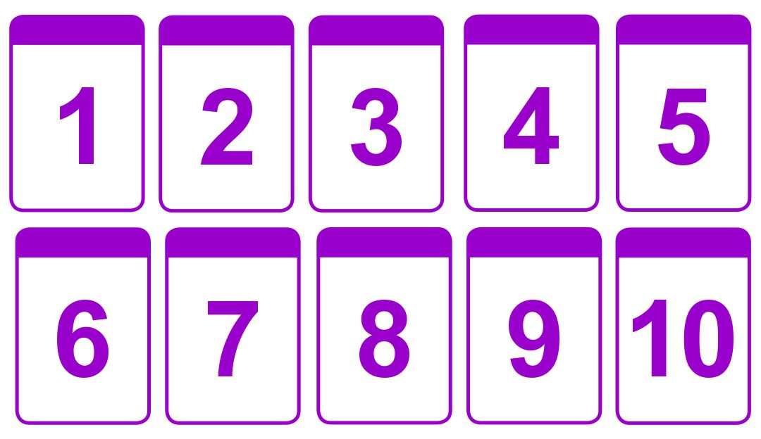 4 Images of Printable Number Card 1 10