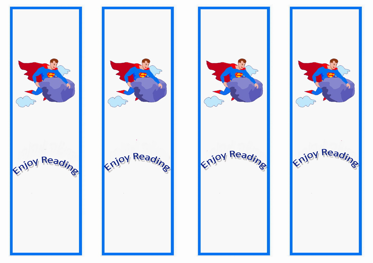 8 Images of Superman Bookmarks Printable