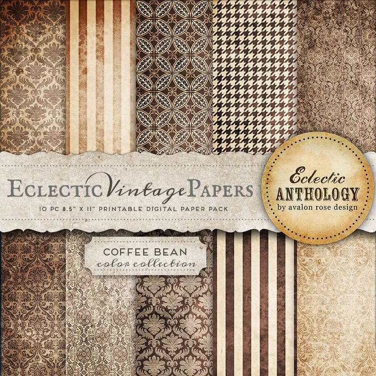 Scrapbook Paper - Vintage Butterfly Scrapbook Paper, Printable Vintage ...