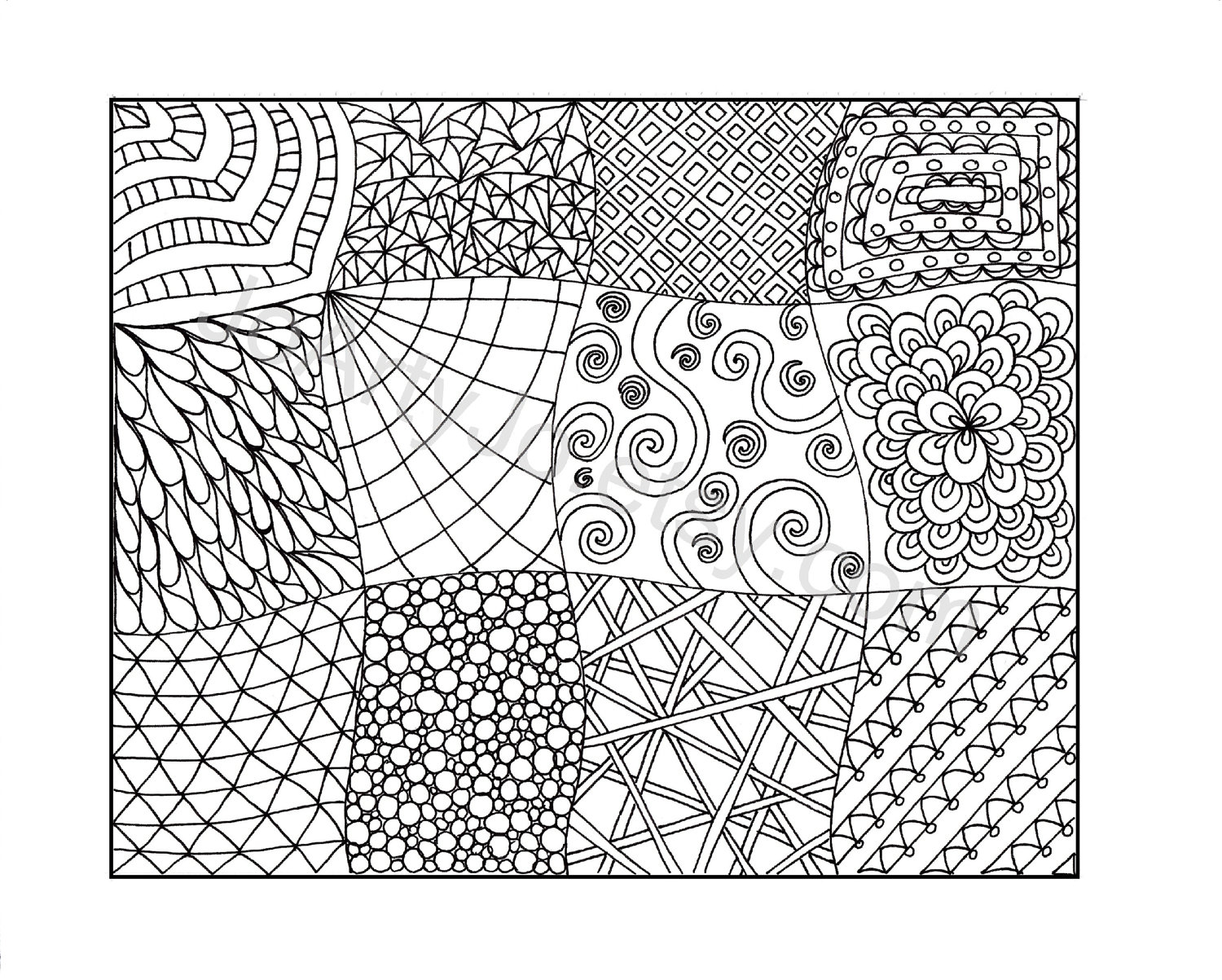 Printable Zentangle Patterns Coloring Pages