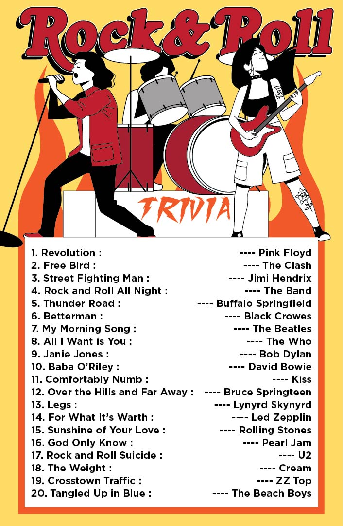 Rock and Roll Trivia Printable