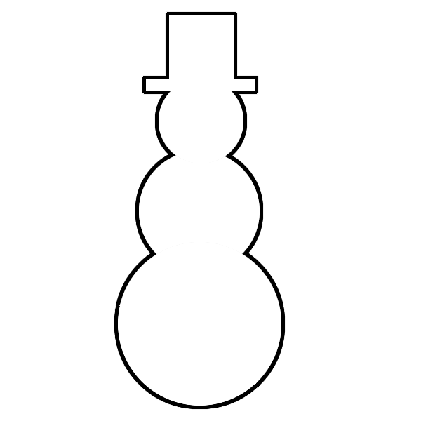 of Snowman Printable Template Large - Free Printable Snowman Template ...