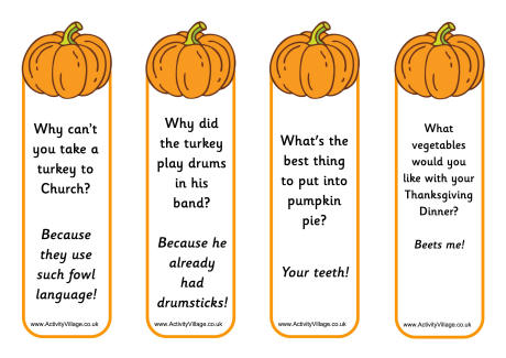 4 Images of Pumpkin Bookmarks That Are Printable