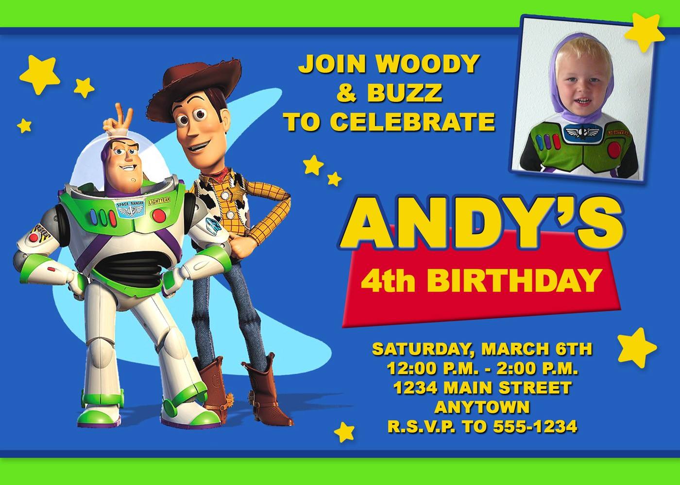 5 best images of free printable toy story invitations for Toy story invites templates free
