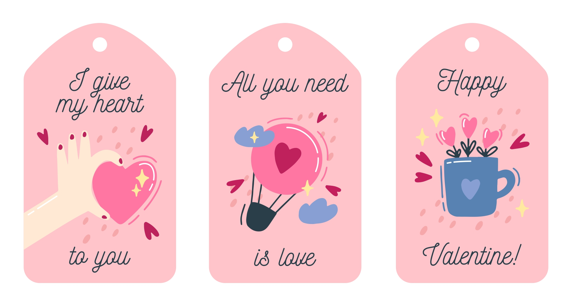 template valentine gift tag templates free and free printable