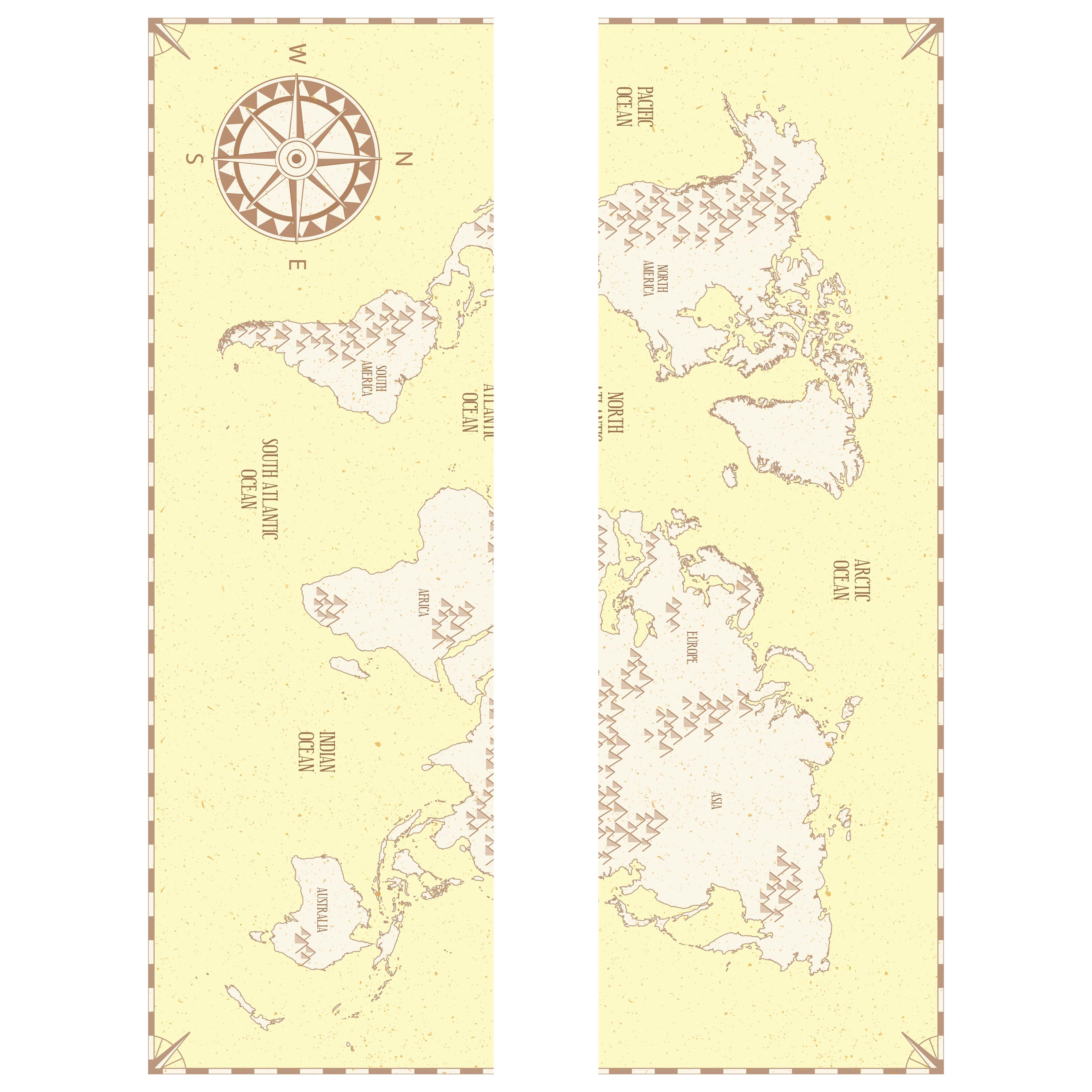 Vintage Map Scrapbook Printables