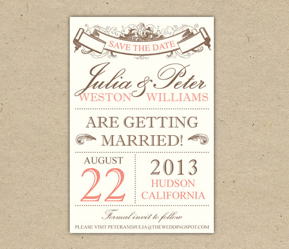 vintage save the date templates free 7 best images of save the date templates printable diy