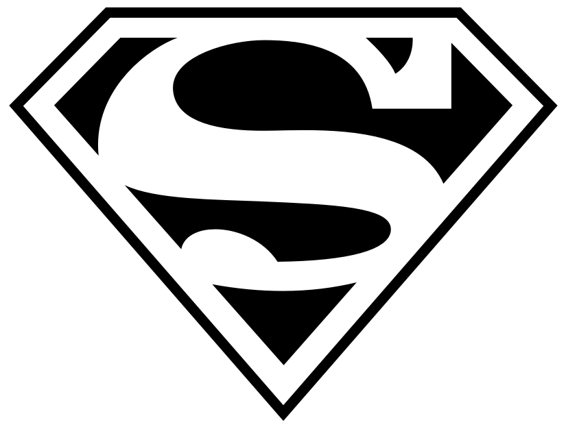 6 Images of Superman Logo Stencil Printable