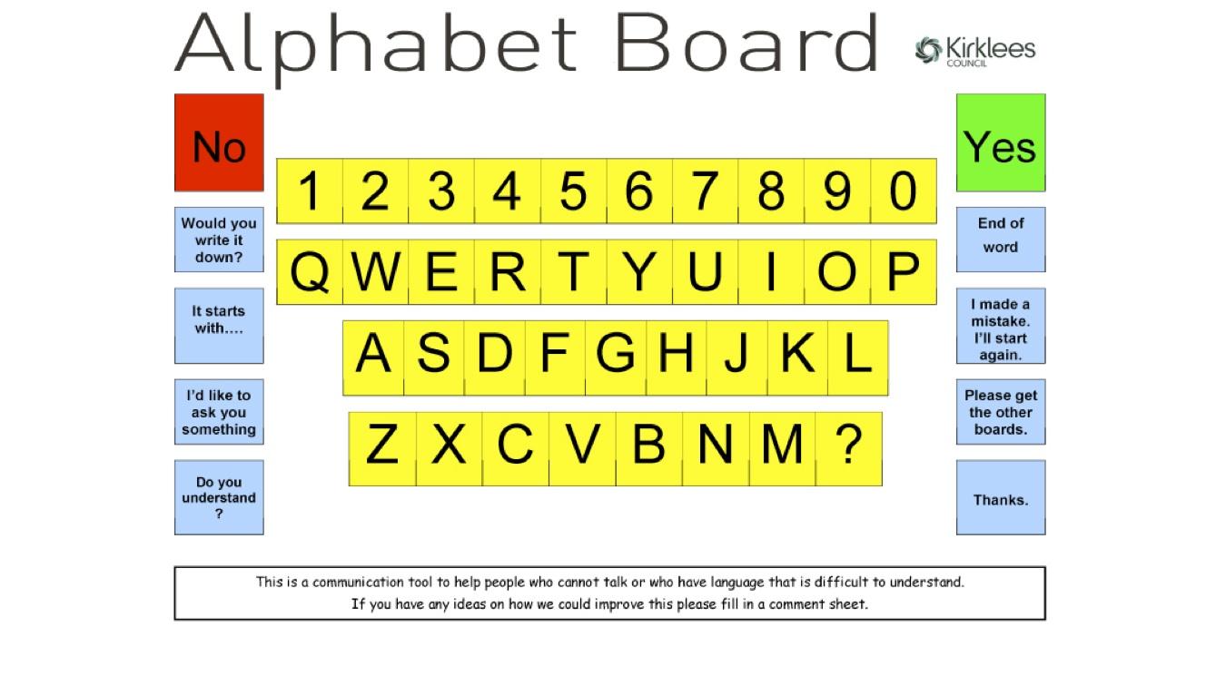 ... Printable Alphabet Communication Board & Printable Alphabet