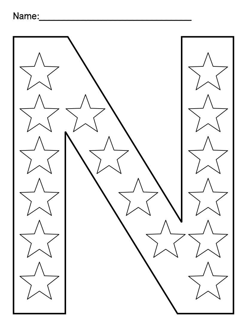 Alphabet Letter N Activities