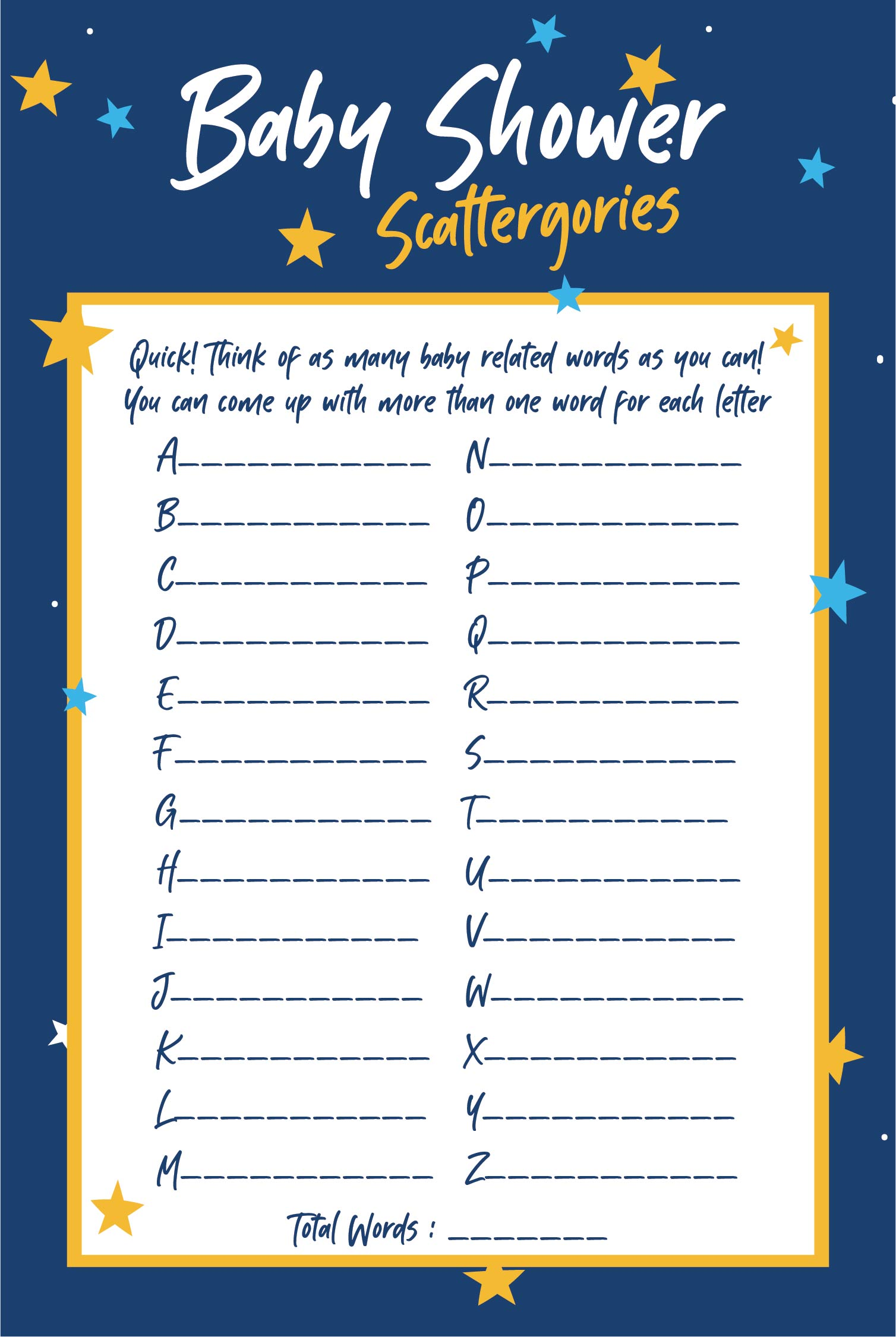 6 Images of Baby Scattergories Printable Free