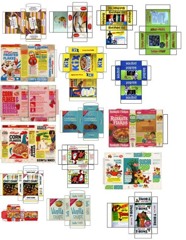 6 Images of Dollhouse Printables Food