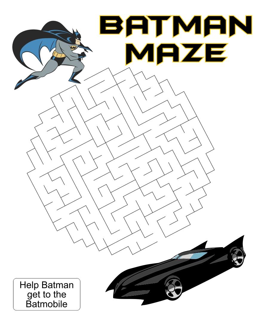 Batman Maze Printable