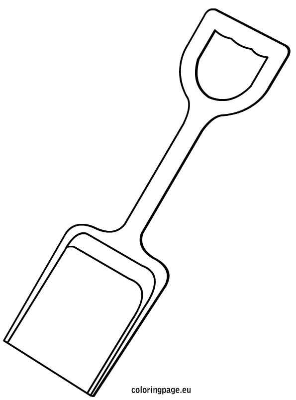 5 best images of printable beach shovels coloring pages for Sand bucket template