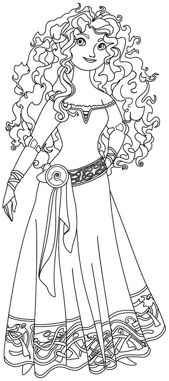 4 Images of Disney Brave Printable Coloring Pages