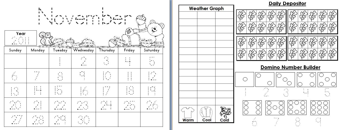 Daily Calendar Journal Kindergarten : Best images of printable kindergarten math journal