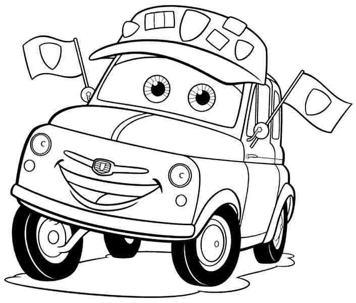 Cars The Movie Coloring Pictures Sexy Dance