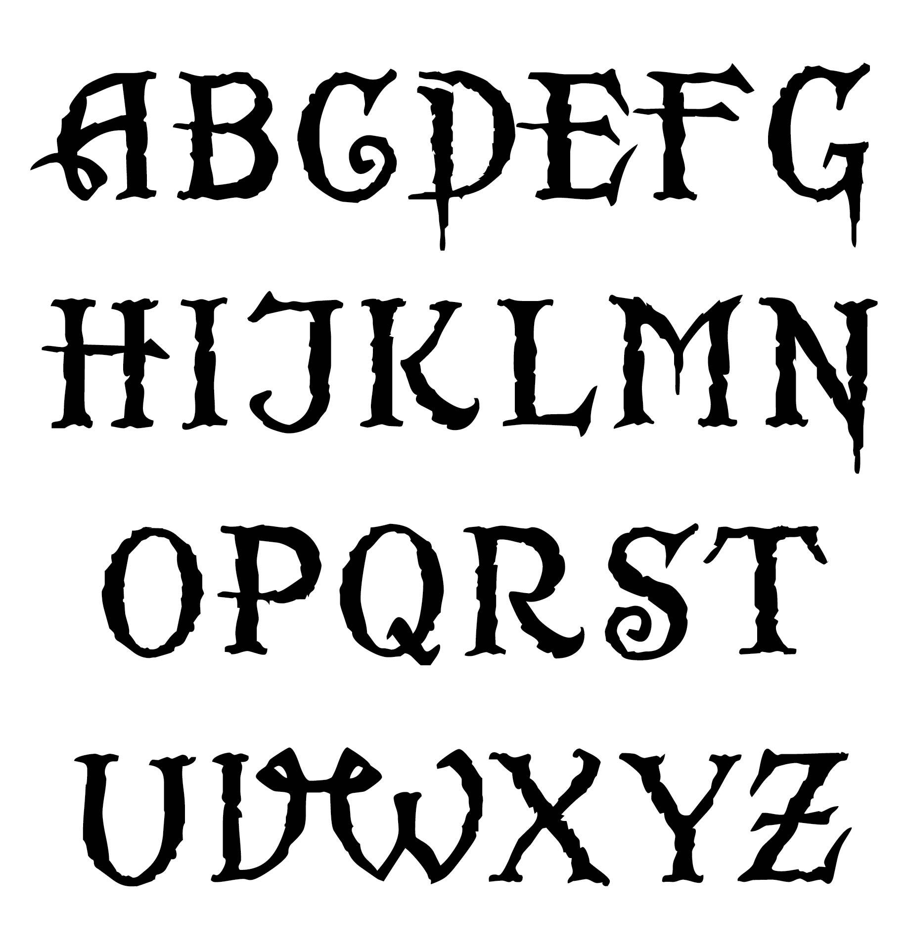 Celtic Alphabet Letters