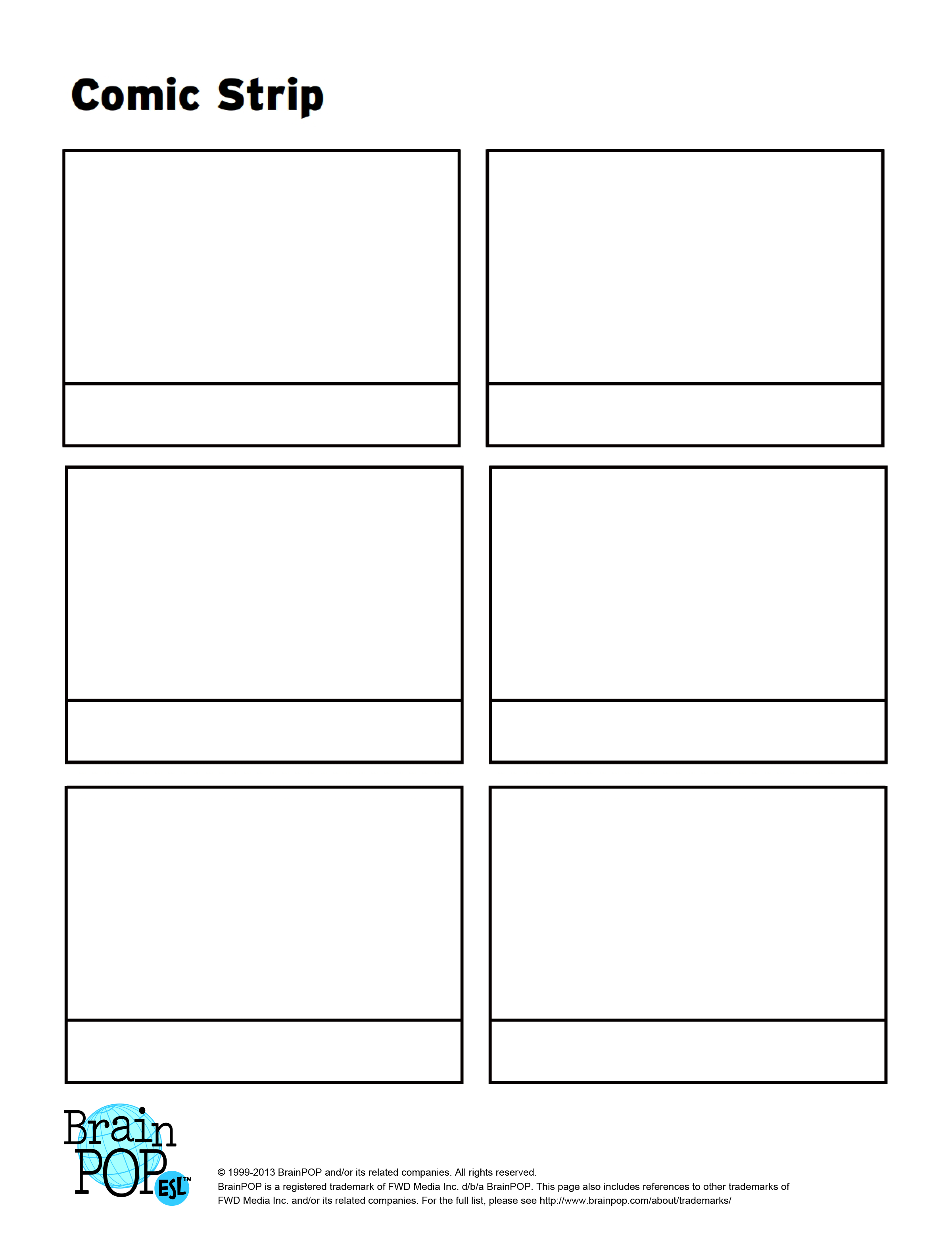 printable blank comic strip template for kids - 7 best images of comic strip template printable comic