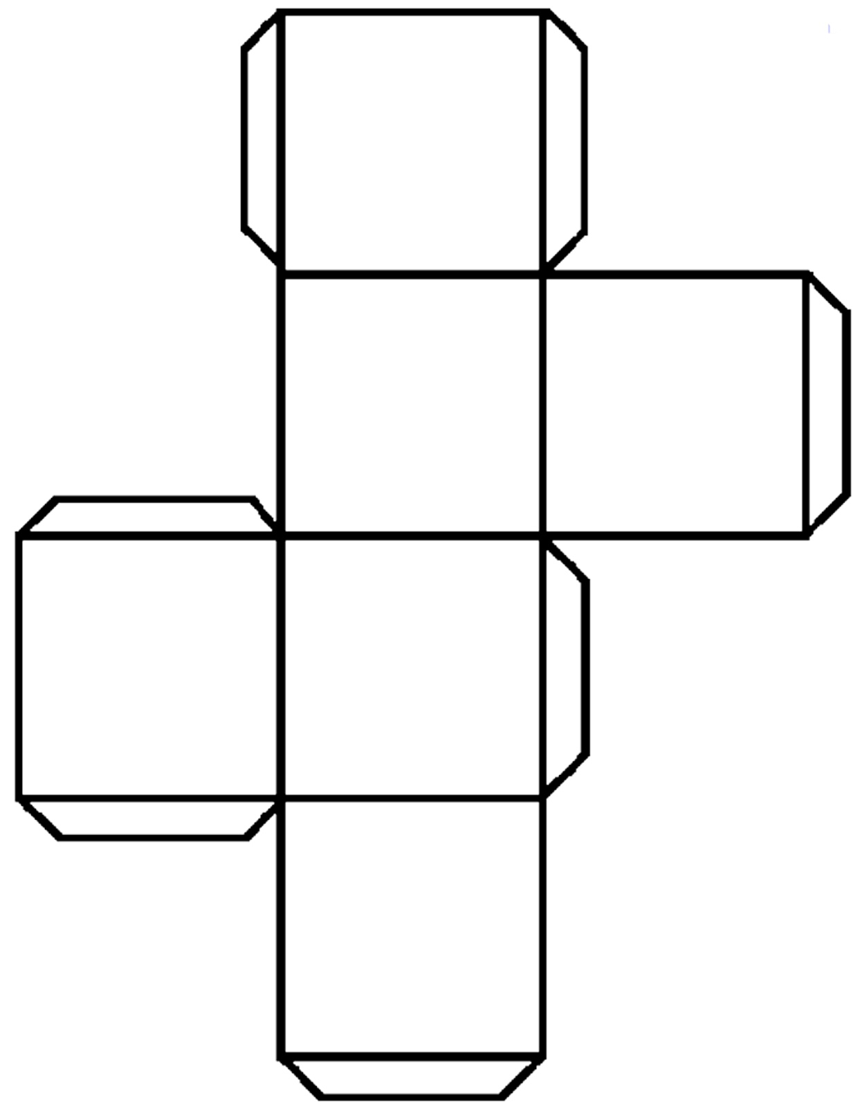 4 Images of Large Printable Cube Nets