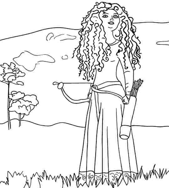 4 Best Images Of Disney Brave Printable Coloring Pages Disney Princess Merida Coloring Pages Printable