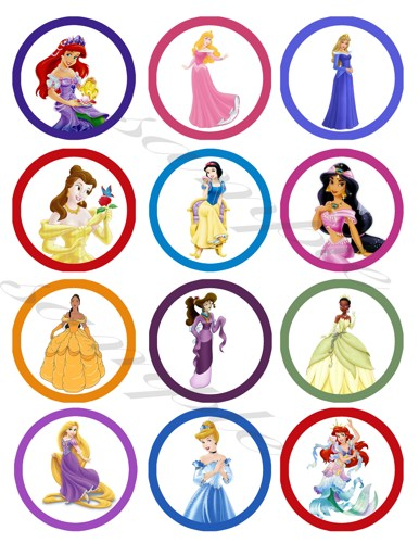 6 Images of Free Printable Princess Stickers