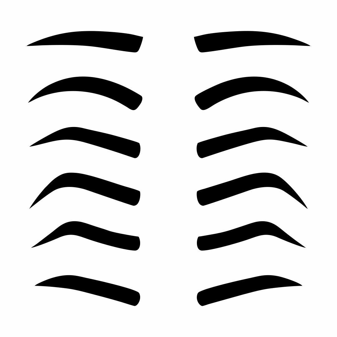 Eyebrow Shaping Stencils