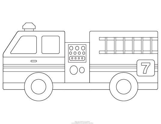 7 Images of Fire Truck Template Printable