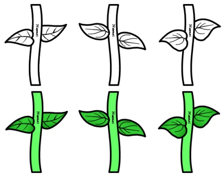 5 Images of Printable Flower Stems And Leaves