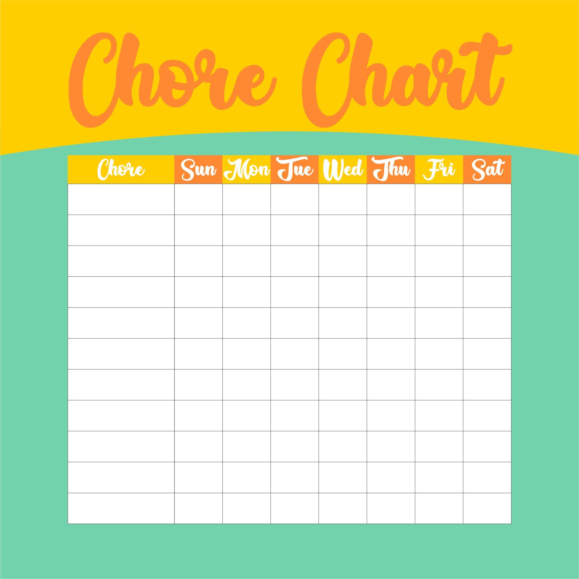 Blank Chart Templates
