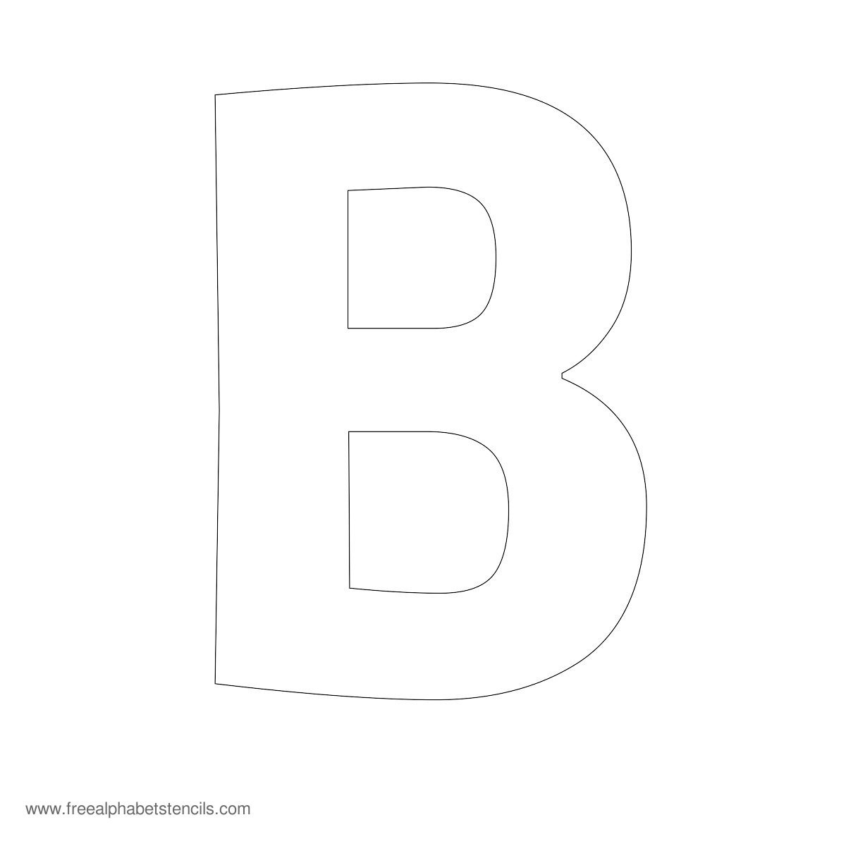 6 Images of Free Printable Letter Stencils B
