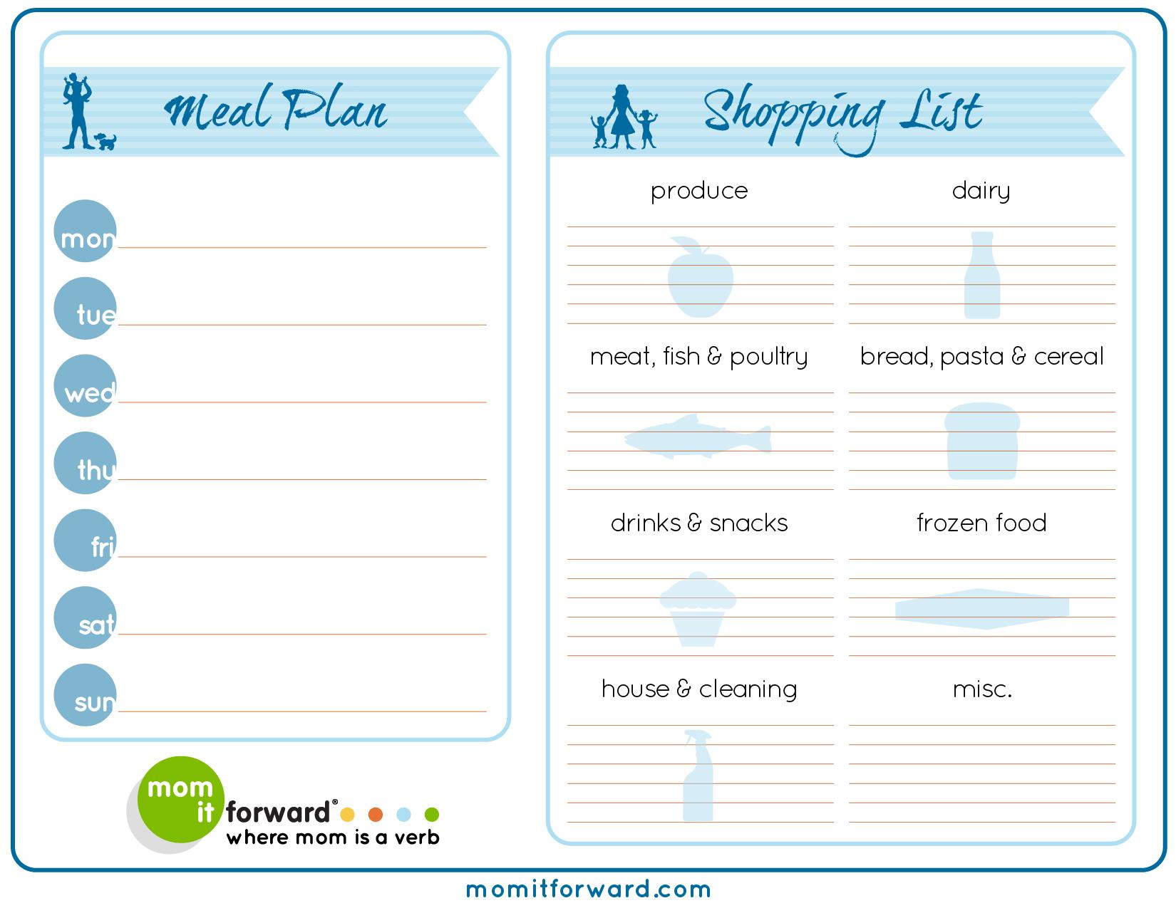 Printables Meal Planning Worksheet printable meal planning worksheets intrepidpath 6 best images of weekly planner free