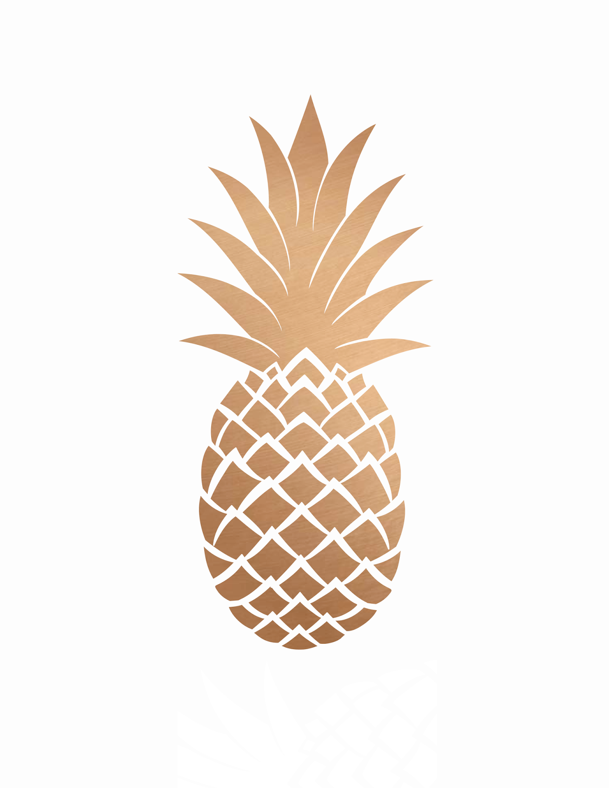 4 Images of Free Printable Gold Pineapple