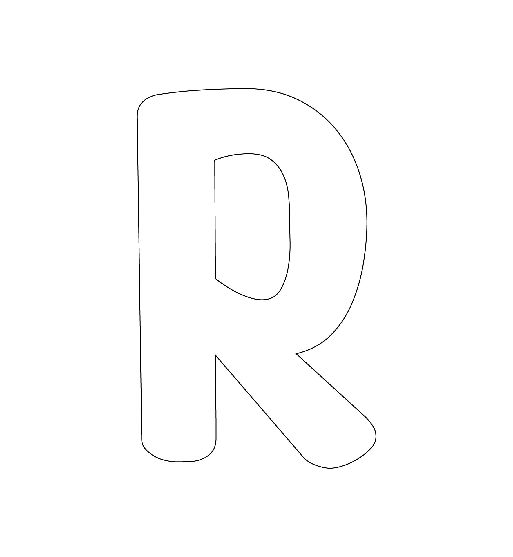 Printable Alphabet Templates Letter R