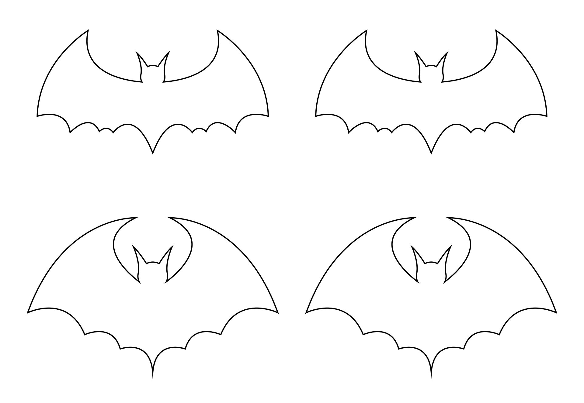 8 Images of Bats For Bat Stencils Printable