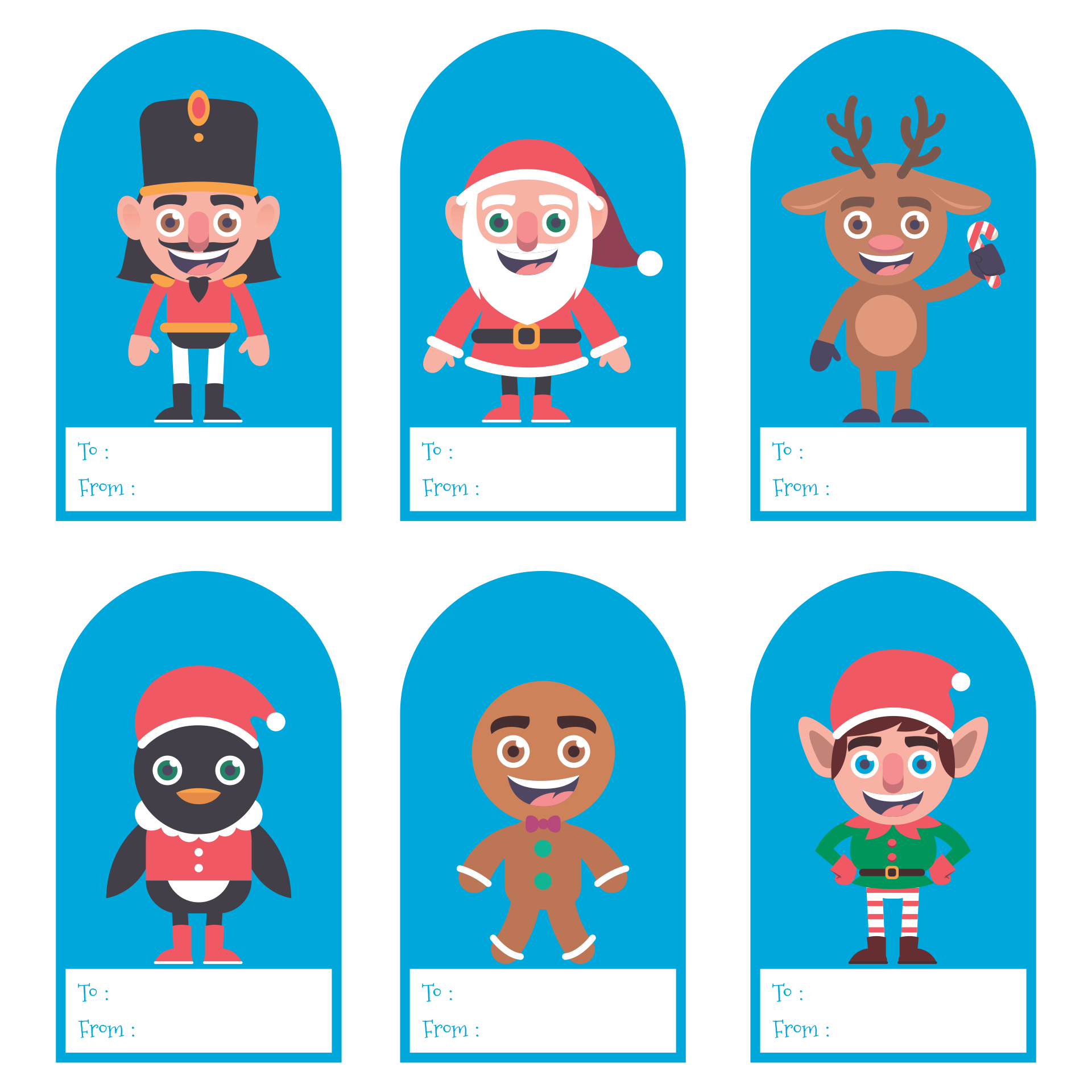 5 Images of Christmas Gift Tags Paper Printable