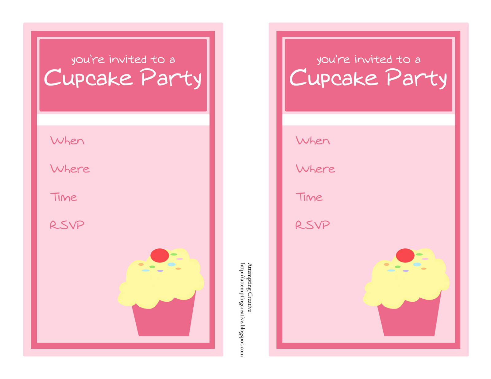 best images of cupcake birthday party invitation templates printable