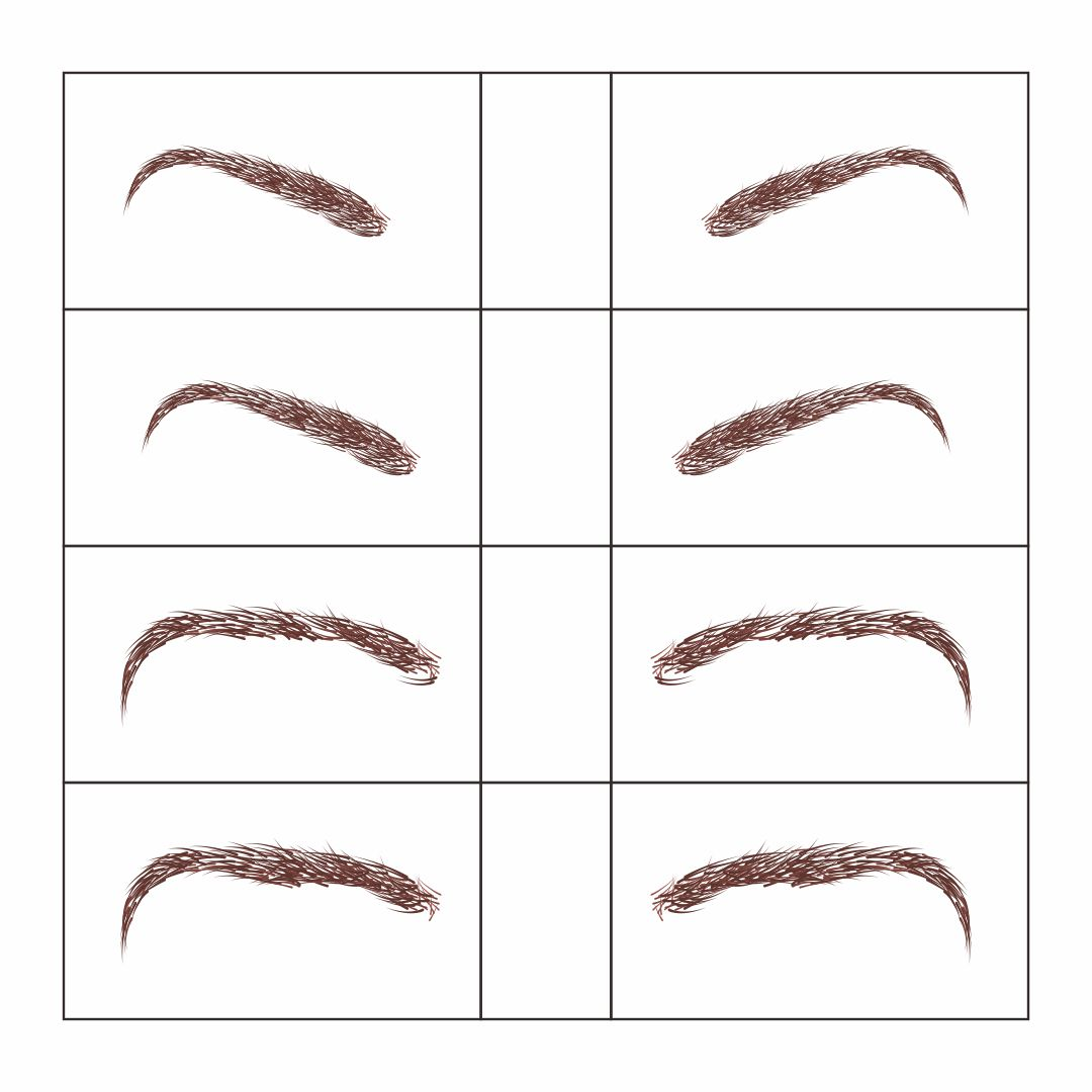 Printable Eyebrow Stencil