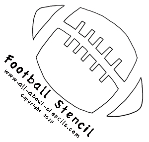 7 Images of Printable Football Stencils
