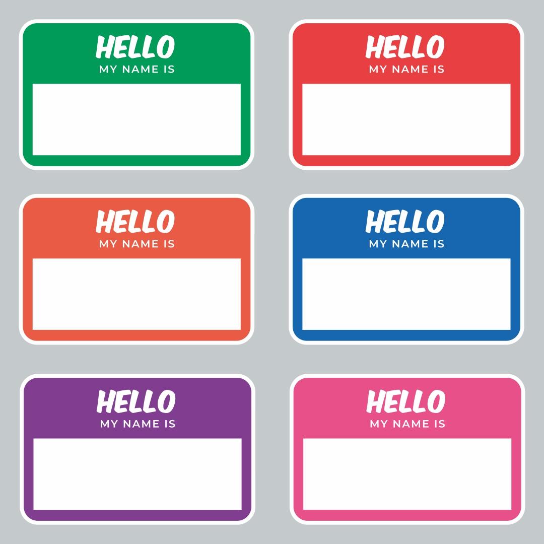 Printable Name Tags Templates